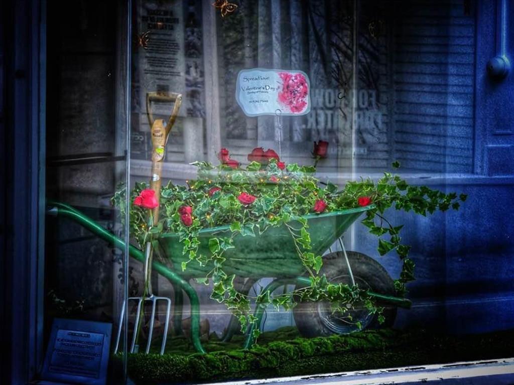 Valentine's Day 2021 Florist Shop Window Display