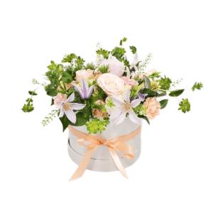 Hatbox Bouquet of Flowers Kirkby Lonsdale Florist